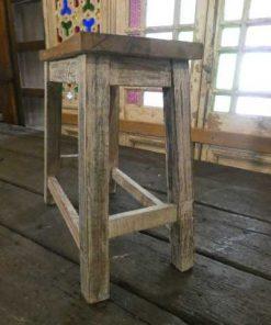 Vintage wooden milking stool-3