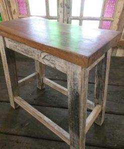 Vintage wooden milking stool-4