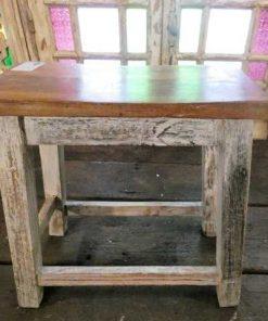 Vintage wooden milking stool-5