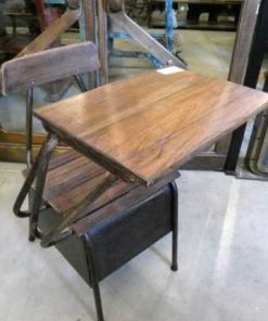 Vintage wooden school chair / lectern-2