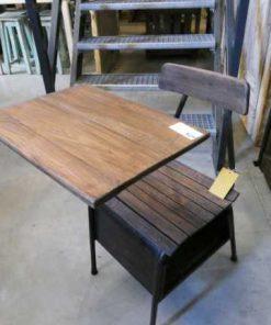 Vintage houten schoolstoel / lessenaartje-3