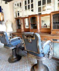 Vintage grey barber / hairdresser chair-2