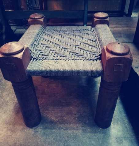 Vintage stool / side table-1
