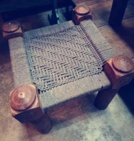 Vintage stool / side table-3