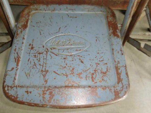 Folding metal chairs-3