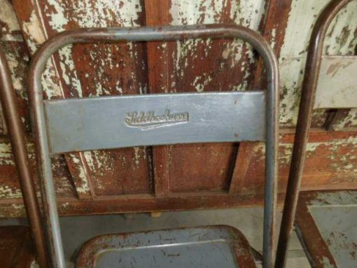Folding metal chairs-4