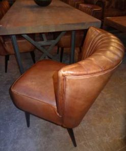 Cognac leather chairs-2