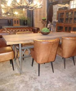 Cognac leather chairs-4