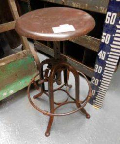 Height adjustable vintage stool-1