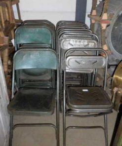 Vintage metalen opklapbare stoelen-2