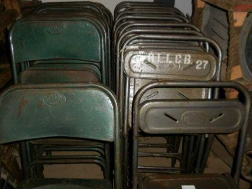 Vintage metal folding chairs-3