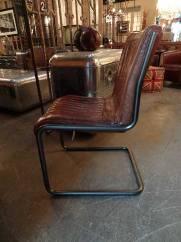 Modern dining chair vintage leather-3