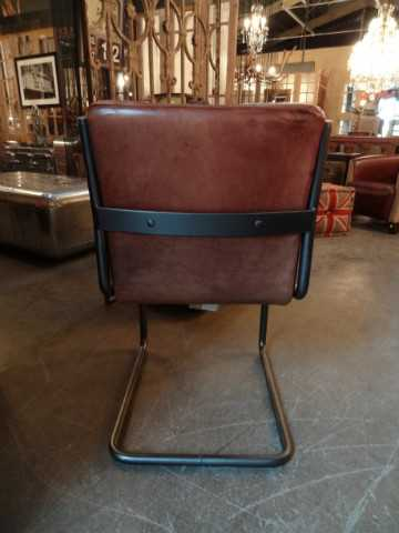 Modern dining chair vintage leather-4