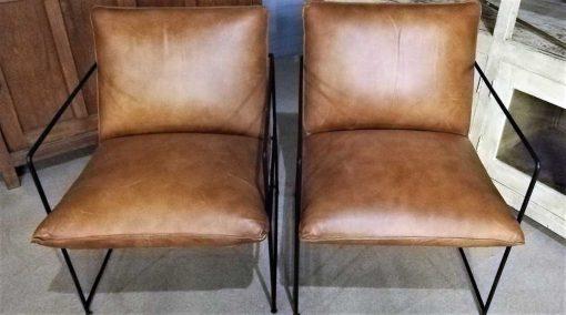 Cognac Leather Chair / Armchair-1