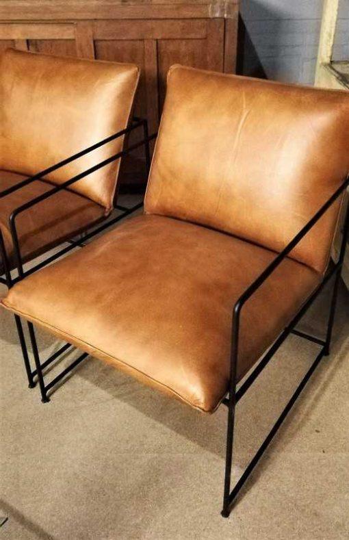 Cognac Leather Chair / Armchair-2