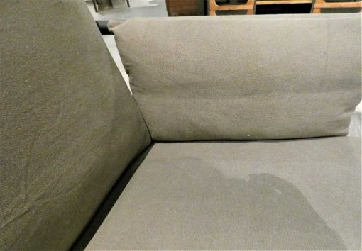 Antique grey velvet armchair-4