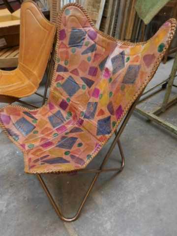Sleek leather chair / armchair-3
