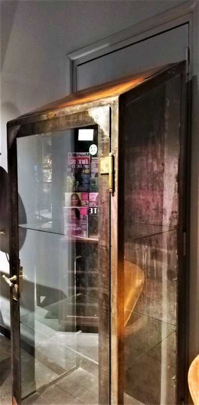 Antique metal display case-2