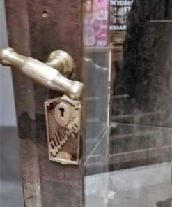 Antique metal display case-4