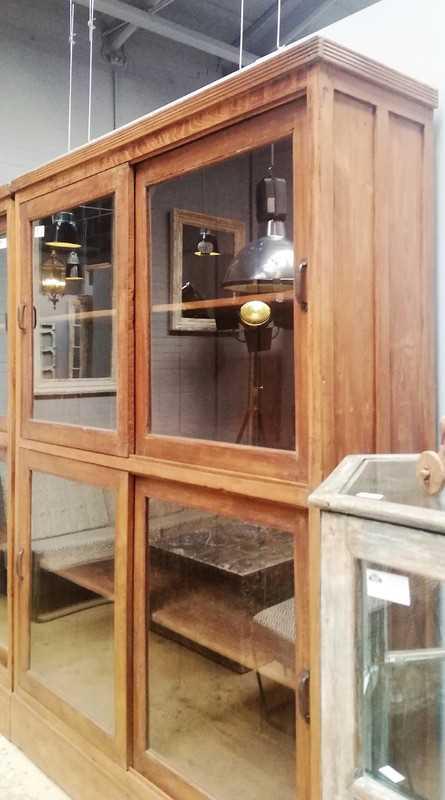 Antieke vitrine kasten-2