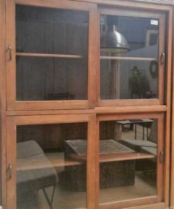 Antieke vitrine kasten-4
