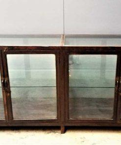 Grote antieke vitrine toonbank-1