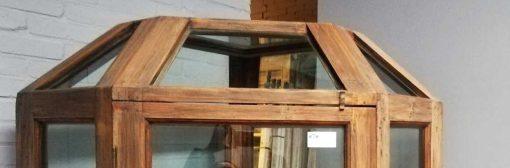 Large antique corner display case-3