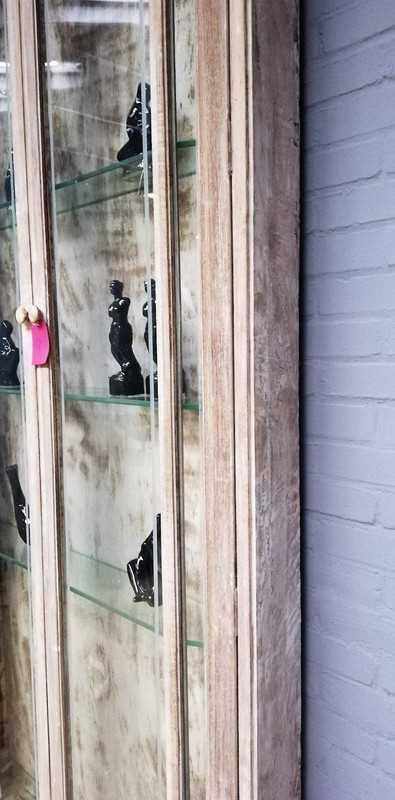 Vintage shallow display case-4