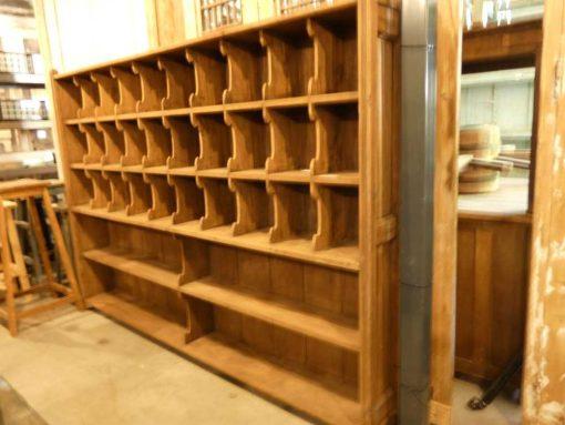 Vintage houten kast met open vakken-2