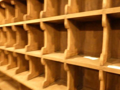 Vintage houten kast met open vakken-3