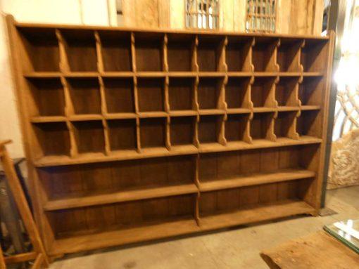 Vintage houten kast met open vakken-4
