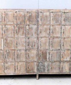 Vintage teak locker cabinet-1