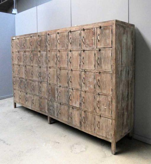 Vintage teakhouten lockerkast-2