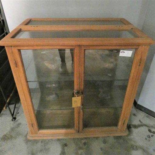 Antieke vitrine kastje lxbxh 93x60x98 cm-2