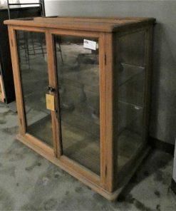 Antieke vitrine kastje lxbxh 93x60x98 cm-3