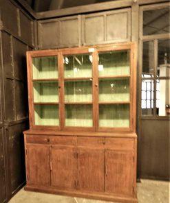 Antieke vitrine kast lxdxh 148x47x197 cm-1