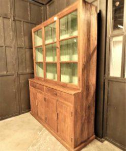 Antieke vitrine kast lxdxh 148x47x197 cm-2