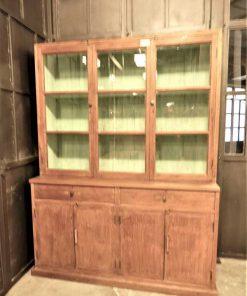 Antieke vitrine kast lxdxh 148x47x197 cm-3