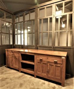 Antique low cabinet / dresser / workbench / kitchen unit-1