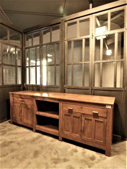 Antieke lage kast / dressoir / werkbank / keukenblok-1