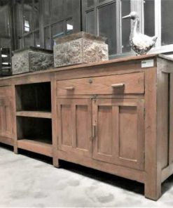 Antique low cabinet / dresser / workbench / kitchen unit-2