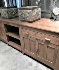Antieke lage kast / dressoir / werkbank / keukenblok-3