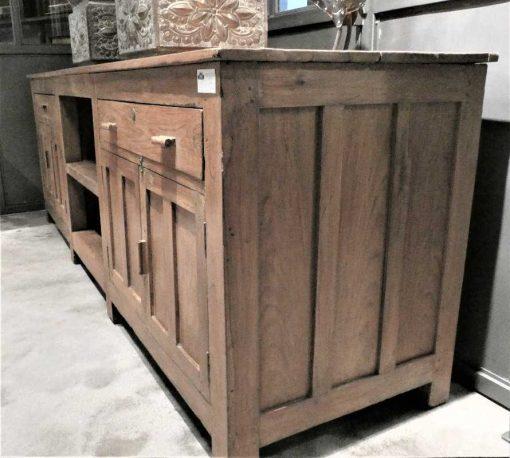 Antieke lage kast / dressoir / werkbank / keukenblok-4