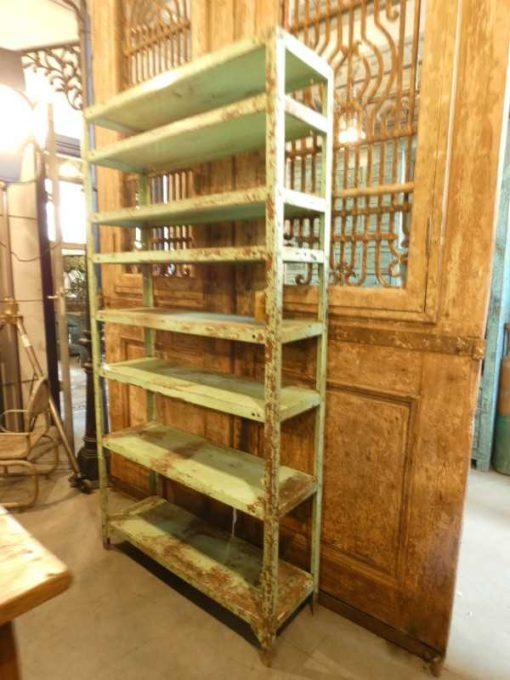Vintage green metal rack-1