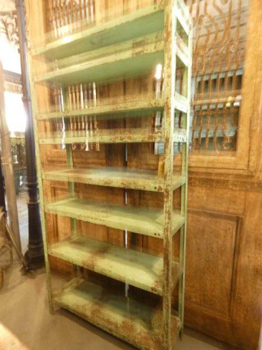 Vintage green metal rack-2