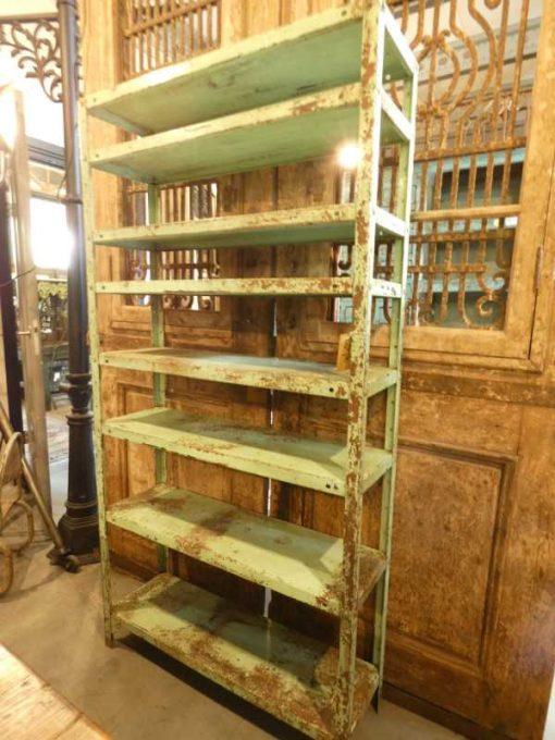 Vintage green metal rack-3