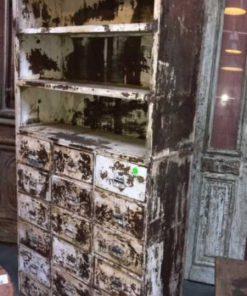 Fraaie Industriële vintage metalen kast.-1