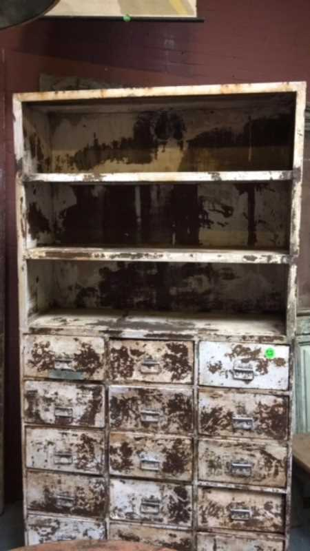 Beautiful industrial vintage metal cabinet-2