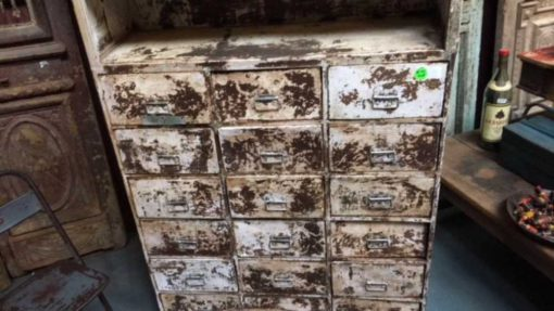 Beautiful industrial vintage metal cabinet-3