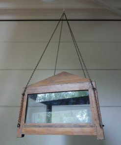 Antique display case with hanging chain-5